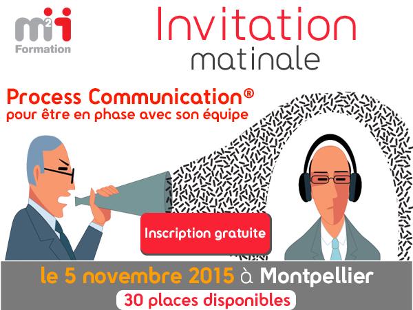 Matinale : Process Communication® le 5 novembre à Montpellier