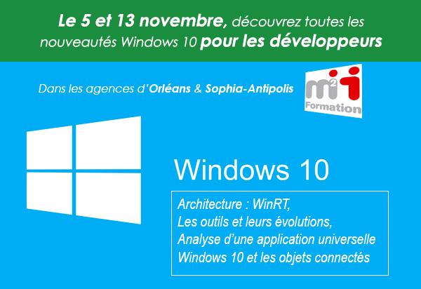 Tour de France Windows 10 pour les développeurs
